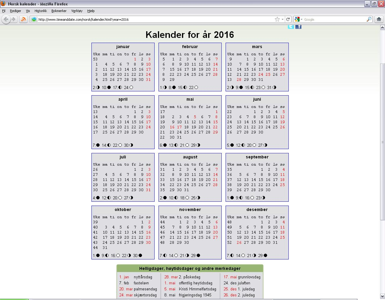 Kalender 2017 Norge Related Keywords & Suggestions - Kalender 2017 ...