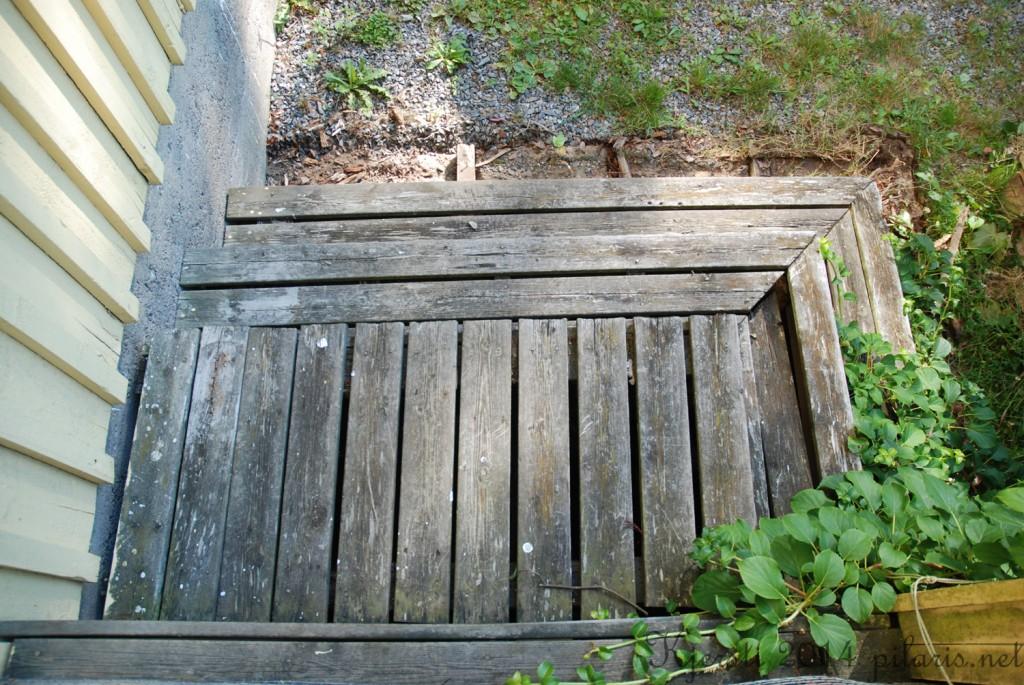1 190714 Omgjøring av trapp til verandaen